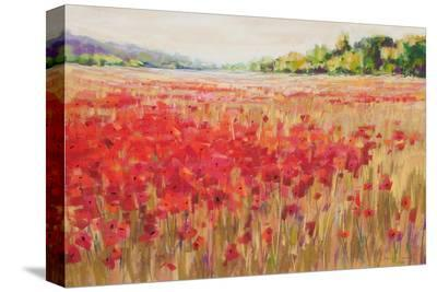 Poppies And Trees VI--Stretched Canvas Print
