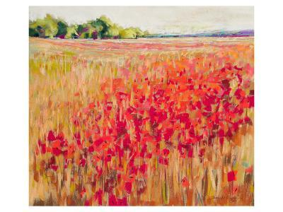 Poppies And Trees VIII--Art Print