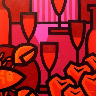 Poppies Apples Wine and Fish-John Nolan-Giclee Print
