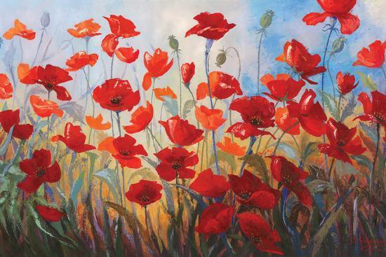 Poppies at Dusk III-Stanislav Sidorov-Art Print