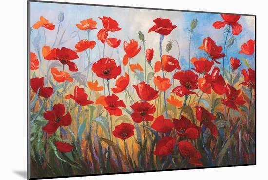 Poppies at Dusk III-Stanislav Sidorov-Mounted Art Print