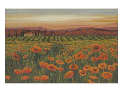 Poppies At Dusk--Art Print