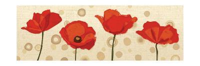 Poppies Dance III-Veronique Charron-Art Print