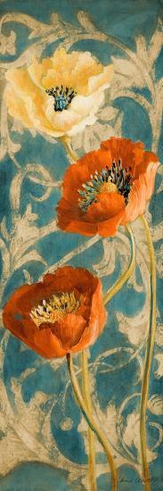 Poppies de Bleu II-Lanie Loreth-Art Print