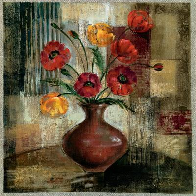 Poppies in a Copper Vase I-Silvia Vassileva-Art Print
