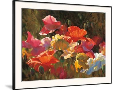 Poppies in Sunshine-Leon Roulette-Framed Art Print