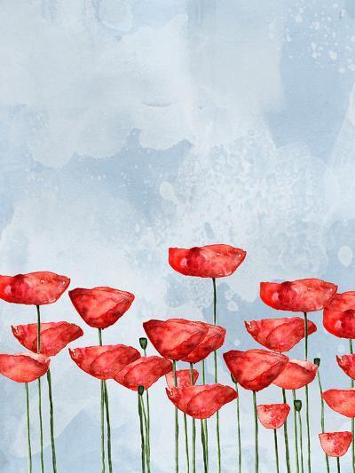 Poppies In Watercolor-Grab My Art-Art Print