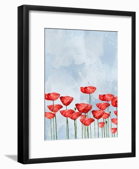 Poppies In Watercolor-Grab My Art-Framed Art Print