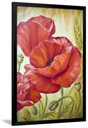 """16x24/"""" Hand Painted Red Poppies Flower Oil Painting On Canvas Wall Art"""