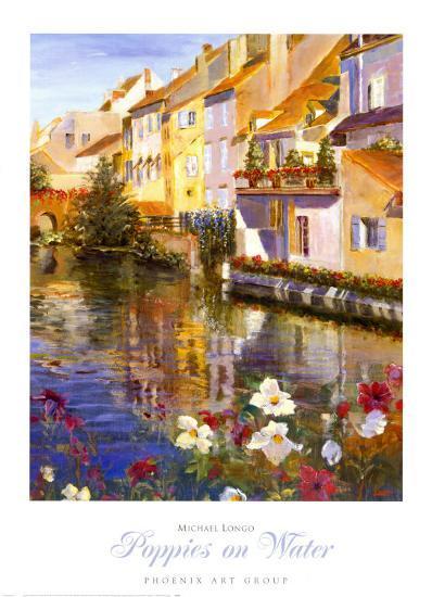 Poppies on Water-Michael Longo-Art Print