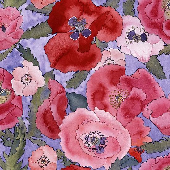 Poppies pattern- light-Carissa Luminess-Giclee Print