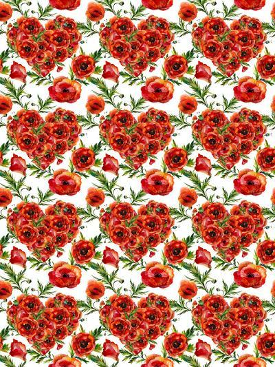 Poppies Poppy Pattern Illustration 4-Grab My Art-Art Print