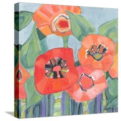 Poppin Poppies II-M^J^ Beswick-Stretched Canvas Print