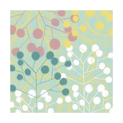 Popping Flowers II-Ali Benyon-Art Print