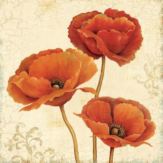 Poppy Bouquet II-Daphne Brissonnet-Art Print