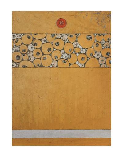 Poppy Bud Icon-Karen Tusinski-Art Print