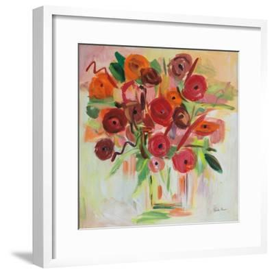 Poppy Burst-Farida Zaman-Framed Art Print
