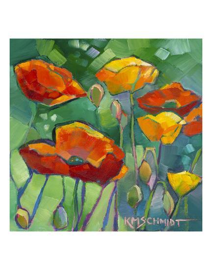 Poppy Dance-Karen Mathison Schmidt-Art Print