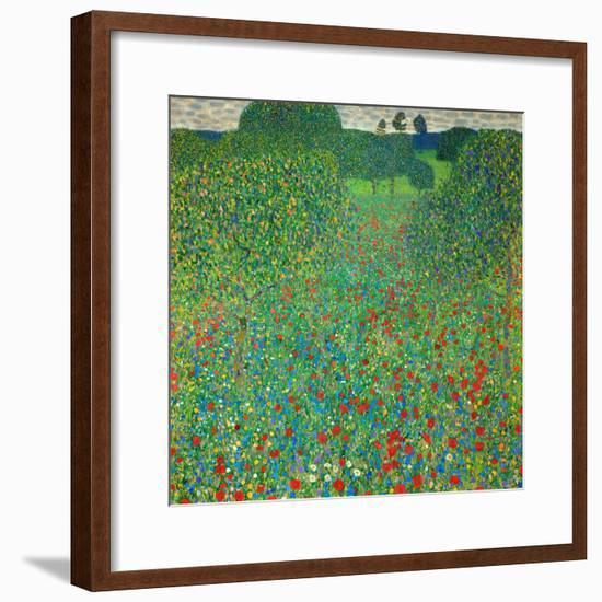 Poppy Field, 1907-Gustav Klimt-Framed Premium Giclee Print