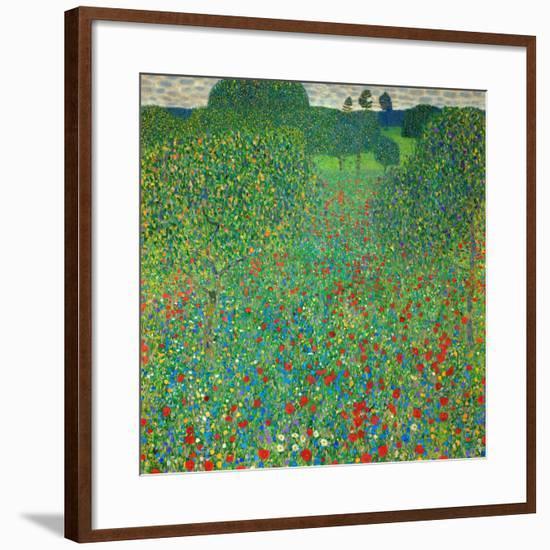 Poppy Field, 1907-Gustav Klimt-Framed Giclee Print