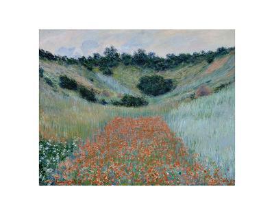 Poppy Field in a Hollow Near Giverny, 1885-Claude Monet-Art Print
