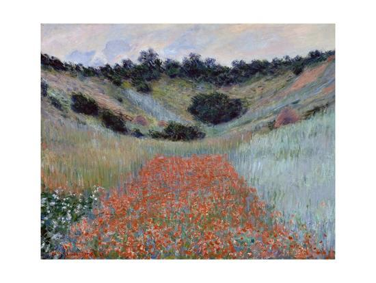 Poppy Field in a Hollow near Giverny by Claude Monet-Claude Monet-Giclee Print