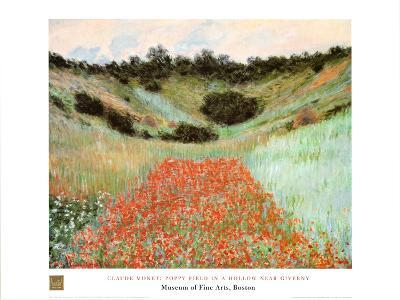 Poppy Field In A Hollow-Claude Monet-Art Print