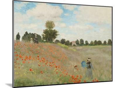 Poppy Field, Near Argenteuil, c.1873-Claude Monet-Mounted Print