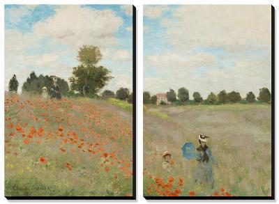 Poppy Field, Near Argenteuil, c.1873-Claude Monet-Canvas Art Set