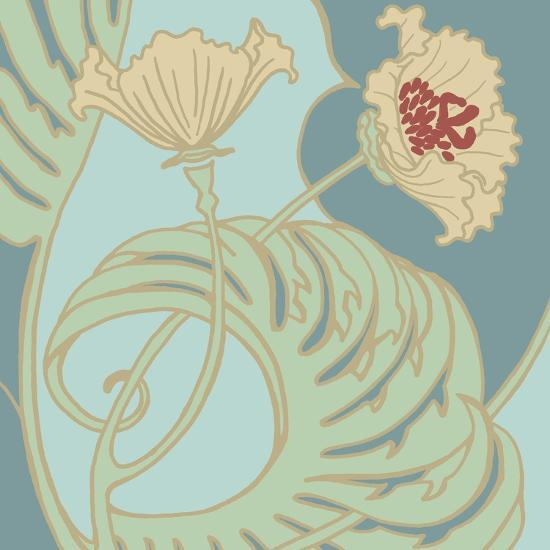 Poppy Flourish II-Jennifer Goldberger-Art Print