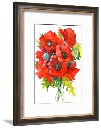 Poppy Flowers-Suren Nersisyan-Framed Art Print