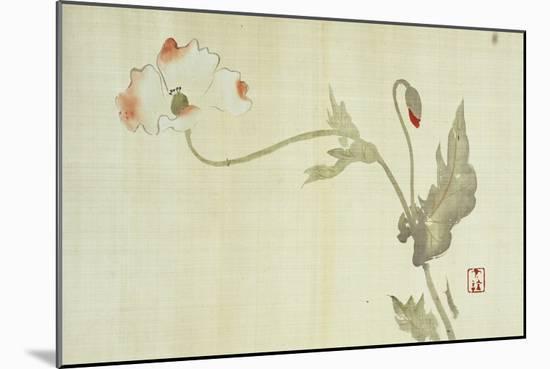 Poppy from Primrose, Mount Fuji, Bamboo and Toy Bird, Kanzan and Jittoku, Cuckoo under the Moon,…-Sakai Hoitsu-Mounted Giclee Print
