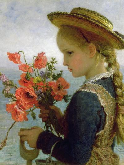 Poppy Girl-Karl Wilhelm Friedrich Bauerle-Giclee Print