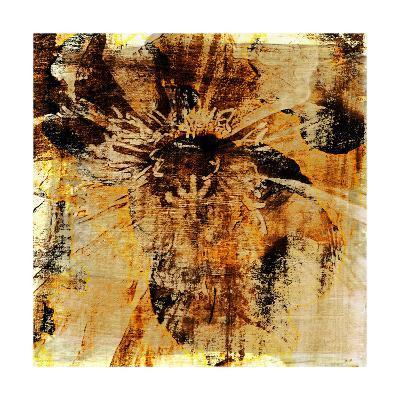Poppy Gold III-Sia Aryai-Art Print