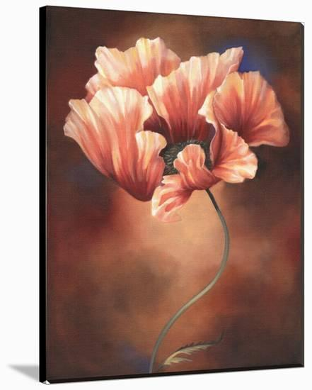 Poppy II-Louise Montillio-Stretched Canvas Print