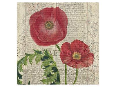 Poppy Pages Square II-Louise Montillio-Art Print