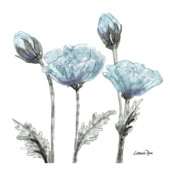 Poppy Perched 1-Lorraine Rossi-Art Print