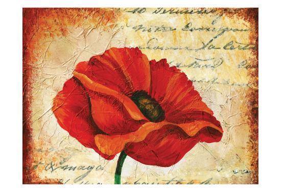 Poppy Script-May May-Art Print