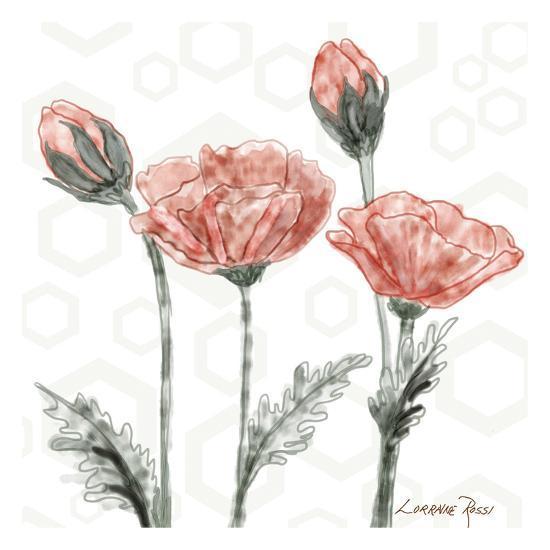 Poppy Umbrella-Lorraine Rossi-Art Print