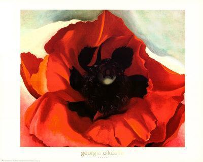 FLORAL ART PRINT Poppy Georgia O/'Keeffe 24x20