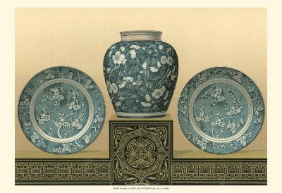 Porcelain in Teal I-George Ashdown Audsley-Art Print
