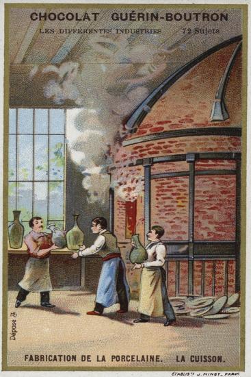 Porcelain Manufacturing. Firing--Giclee Print