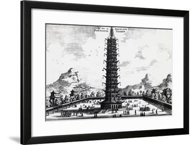 Porcelain Tower of Nanjing, from Embassy from East-India Company of the United Provinces-Jan Nieuhoff-Framed Giclee Print