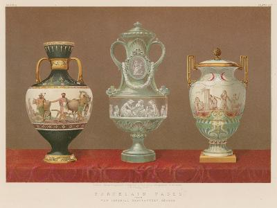 Porcelain Vases from the Imperial Manufactory, Sevres--Giclee Print