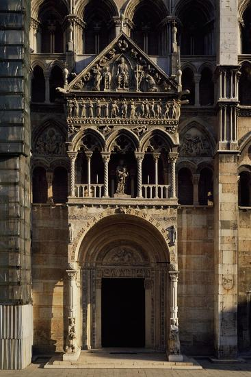 Porch and Main Doorway of Facade of Saint George Martyr Basilica, Ferrara, Emilia-Romagna, Italy--Giclee Print