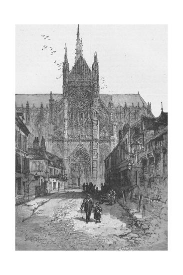 Porch of the Golden Virgin: Amiens Cathedral--Giclee Print