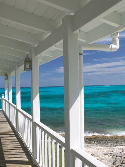 Porch View of the Atlantic Ocean, Loyalist Cays, Abacos, Bahamas-Walter Bibikow-Photographic Print