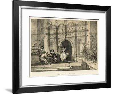 Porch, Wroxton Abbey, Oxfordshire-Joseph Nash-Framed Giclee Print