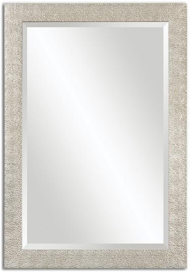 Porcius Antiqued Silver Mirror--Wall Mirror