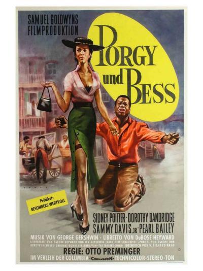 Porgy and Bess, German Movie Poster, 1959--Art Print